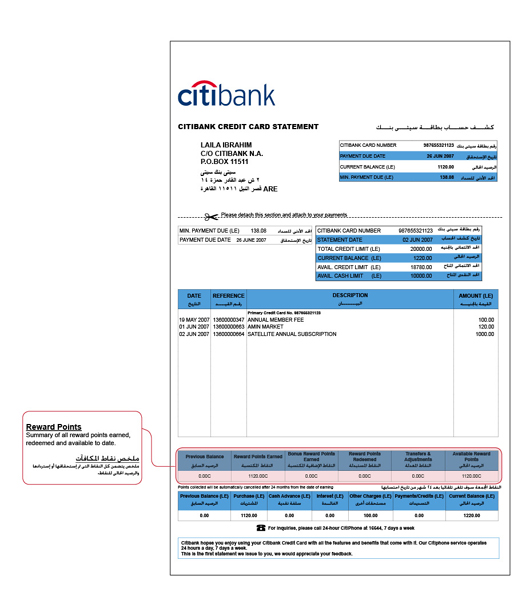 citibank statement Citibank Egypt Credit Responsibly