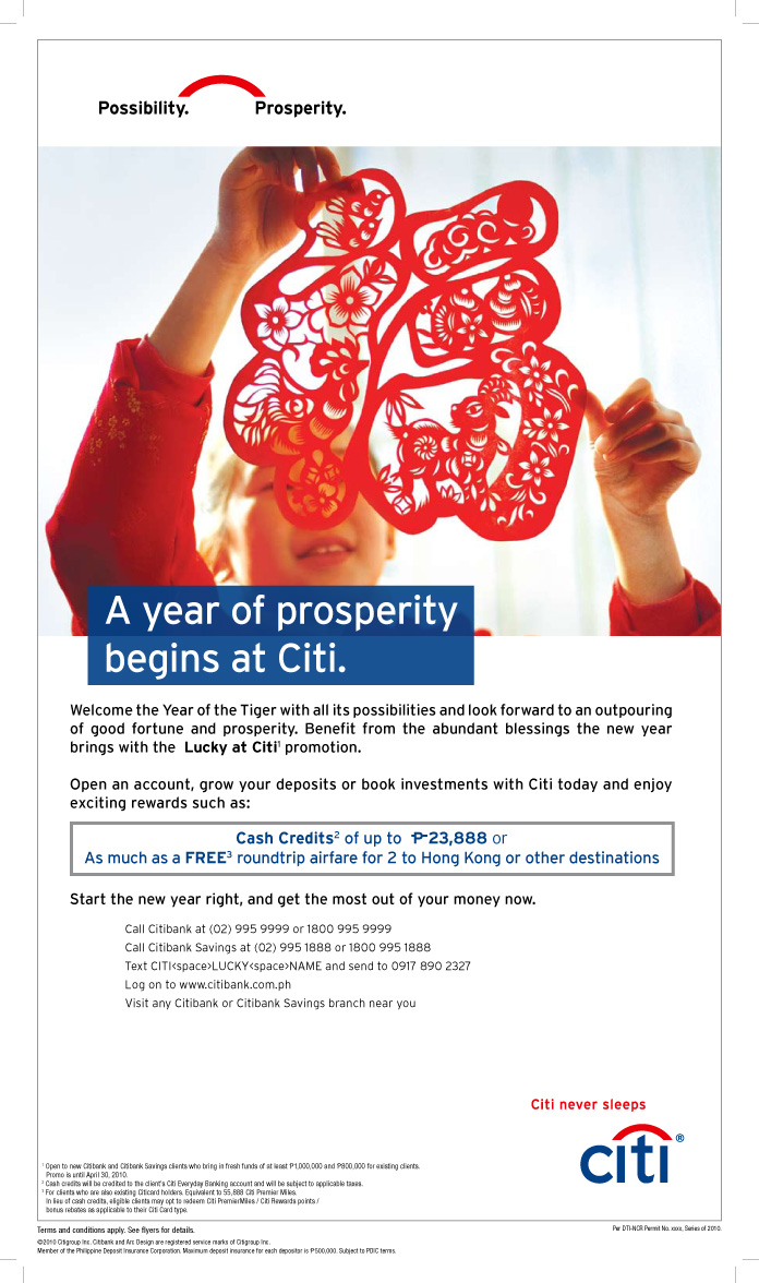 Citibank And Citibank Savings Launch Lucky At Citi Lunar New Year